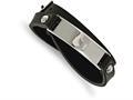 Chisel Stainless Steel Polished Black Leather Wrap Bracelet