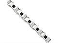 Chisel Stainless Steel Polished Black Ip-plated Bracelet