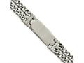 Chisel Stainless Steel Polished Adjustable 7.75 With 1/2 Inch Ext.  Id Bracelet