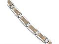 Chisel Stainless Steel Polished Rose Ip-plated Bracelet