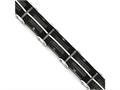Chisel Stainless Steel Brushed and Polished Wire Black Ip-plated Bracelet