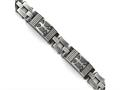 Chisel Stainless Steel Antiqued Polished And Brushed Bracelet