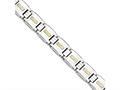 Chisel Stainless Steel Polished W/14k Gold D/c Link Bracelet