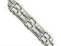 Chisel Stainless Steel Polished And Brushed 8.5in Link Bracelet