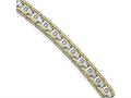 Chisel Stainless Steel Polished Yellow Ip CZ 8.50in Link Bracelet