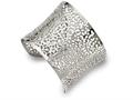 Chisel Stainless Steel Polished Cut-out Design Cuff Bangle