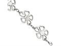 Chisel Stainless Steel Polished Flowers 8in Bracelet