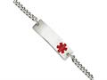 Chisel Stainless Steel Medical Jewelry 8.75in Bracelet