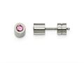 Chisel Stainless Steel CZ Oct Birthstone Polished Post Earrings