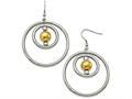 Chisel Stainless Steel Polished Yellow Ip-plated Shepherd Hook Earrings