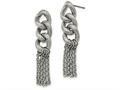 Chisel Stainless Steel Oval Chain Post Dangle Earrings