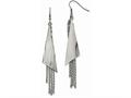 Chisel Stainless Steel Polished Shepherd Hook Dangle Earrings