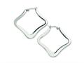 Chisel Stainless Steel Polished Hoop Earrings