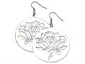 Chisel Stainless Steel Flower Cutout Dangle Earrings