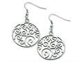 Chisel Stainless Steel Fancy Swirl Dangle Earrings