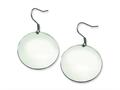 Chisel Stainless Steel Polished Discs Dangle Earrings