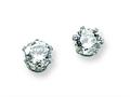 Chisel Stainless Steel 5mm CZ Stud Earrings