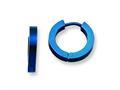 Chisel Stainless Steel Blue Ip-plated Hinged Hoop Earrings