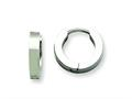 Chisel Stainless Steel Brushed And Polished Hinged Hoop Earrings