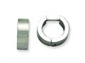Chisel Stainless Steel Brushed Round Hinged Hoop Earrings