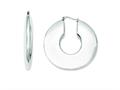 Chisel Stainless Steel Hollow Hoop Earrings