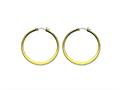 Chisel Stainless Steel Gold Ip Plated Tapered 43mm Hoop Earrings