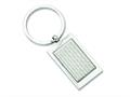 Chisel Stainless Steel Polished And Textured Key Ring