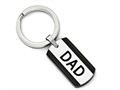 Chisel Stainless Steel Polished Black Ip-plated Key Ring