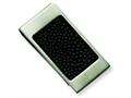 Chisel Stainless Steel Brushed Black Stingray Money Clip