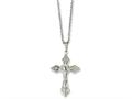 Chisel Stainless Steel Crucifix Pendant 18in Necklace