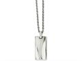 Chisel Stainless Steel Polished Concave 22in Necklace