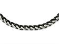 Chisel Stainless Steel Polished and Black Ip-plated 24in Necklace