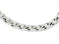 Chisel Stainless Steel Polished Fancy Squares Link Necklace