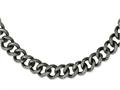 Chisel Stainless Steel Antiqued and Textured Links 24in Necklace