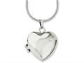 Chisel Stainless Steel Polished Heart W/cz Magnetic Locket 20in Necklace