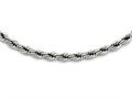 Chisel Stainless Steel Polished 7mm Rope Necklace