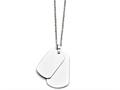 Chisel Stainless Steel Polished Double Dog Tag Necklace