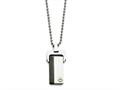 Chisel Stainless Steel Polished Yellow and Black Ip-plated  Dog Tag Necklace