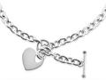 Chisel Stainless Steel Polished Heart Toggle Necklace