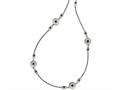 Chisel Stainless Steel Polished/textured Black Onyz W/2in Ext. Necklace