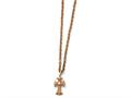 Chisel Stainless Steel Polished Pink Ip-plated Cross Necklace