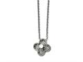 Chisel Stainless Steel Polished CZ Flower Necklace