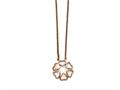Chisel Stainless Steel Polished Pink Ip-plated Circle Of Hearts Necklace