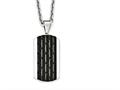 Chisel Stainless Steel Polished Black Ip-plated Dog Tag Necklace