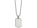 Chisel Stainless Steel Polished Dog Tag Necklace