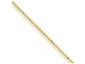 Chisel Yellow Rhodium Over Brass 2.00mm Plated Ball Chain Necklace