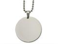 Chisel Stainless Steel Polished Circle 2mm Thick Dog Tag Necklace