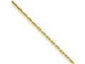 Chisel Yellow Rhodium Over Brass 2.50mm Plated Fancy Chain Necklace