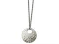 Chisel Stainless Steel Polished Hammered Necklace