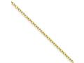Chisel Stainless Steel Gold Ip Plated 2.30mm 18in Cable Chain Necklace